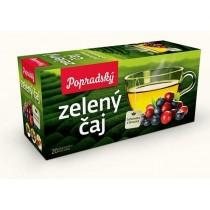 Popradský Zelený čaj Borůvka a brusinka (20x1,5g)