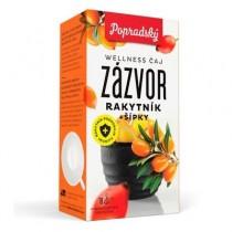 Popradský Wellness čaj Zázvor, Rakytník + Šípky (18x2g)
