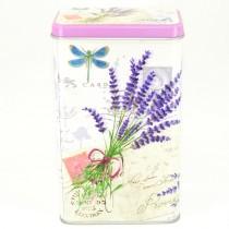 Plechová dóza obdélníková Lavender