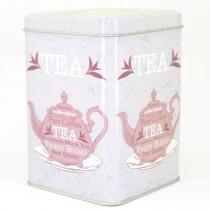 Plechová dóza čtvercová Tea