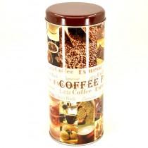 Plechová dóza kulatá Coffee